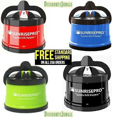 SunrisePro Supreme Best Kitchen Knife Sharpener for all Blade Types Easy & Safe