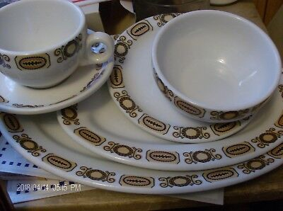Maddock England ultra vitrified Empire Crockery Montreal 6pc commercial set
