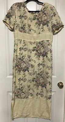 e513c3bce3 TALBOTS WHITE100% COTTON Eyelet Dress Cover-Up 3/4 Sleeve Sz 12 NWOT ...