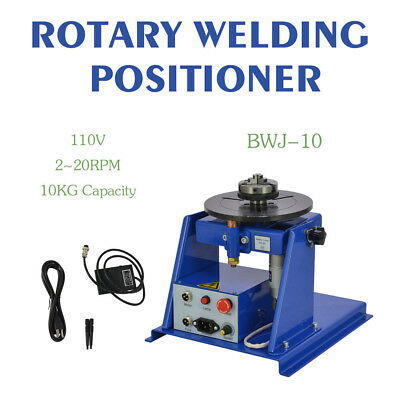 "10KG Rotary Welding Positioner Turntable Table Mini 2.5"" 3 Jaw Lathe Chuck Hot"