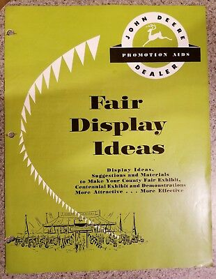 John Deere Dealer Promotion Aid - Fair Display Ideas - Brochure/catalog 1956