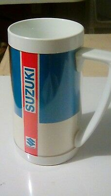 Vintage SUZUKI thermos serv mug USA, rare, bike auto atv  ++++ advertising