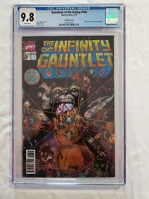 INFINITY GAUNTLET #1 CGC 9.8 - White Pages!! (1st in Limited Series) THANOS!!
