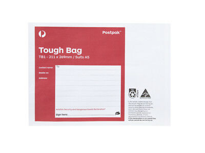 10 X Tough Bags - 211Mm X 269Mm - Tb1 - Suits A5 - New