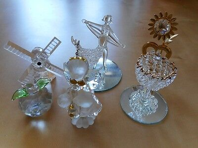 Lot d'objets en verre collection glass deco vintage figure figurine