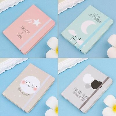 Cute A6 Notepad Memo Diary Notebook Exercise Book Oil Painting Cover Stationery