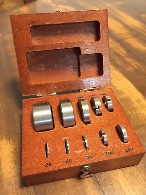 Antique Set Of Small Balance Scale Weights - Browne & Sharpe, Providence, RI