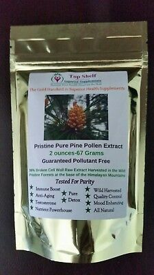 Pristine Pure Pine Pollen Extract- 2.36 Ounces 99% Broken Cell Wall- Guaranteed