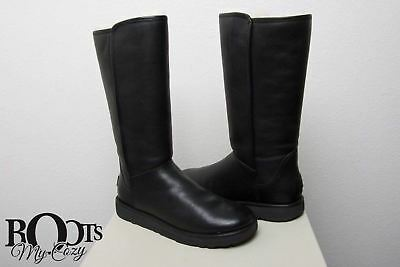 4ba8013beff NEW WOMENS UGG® BLACK Abree Ii Leather LEATHER BOOTS KNEE-HIGH ...