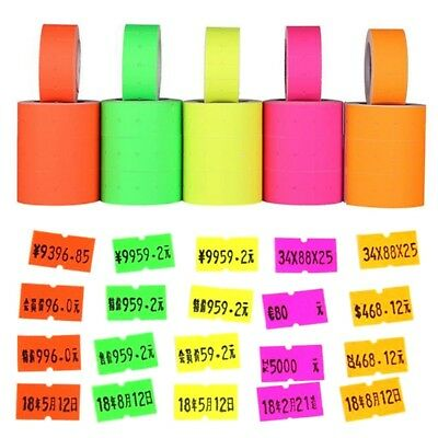 500pcs/roll Colorful Price Label Paper Tag Mark Sticker For Labeller Gun MX-5500