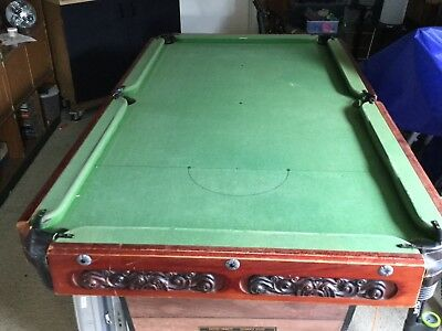 SLATE POOL TABLE, 7' X 4' and Accessories