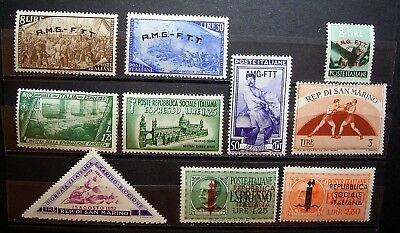 Italy / San Marino / R.M.G.-F.T.T. O/P,s  MLH Stamps ... Very Collectable Stamps