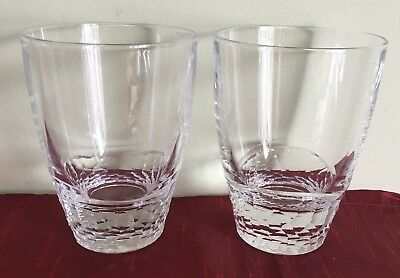 Edinburgh Crystal - 2 x NIMBUS Edge Whisky/Whiskey Glass/Tumbler - Signed