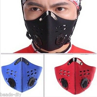 Activated Carbon Anti-pollution Outdoor Hiking Cycling Sport Mask Dust Filter CG