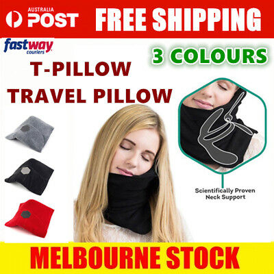 The Original T-Pillow Travel Pillow Nap Scarf Neck Support & Comfort Sitting