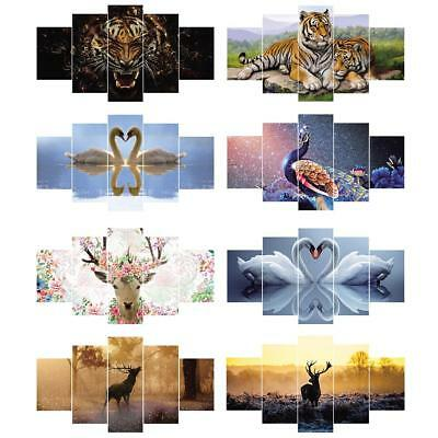 5Pcs Set Animal Modern Canvas Painting Picture Poster Wall Art Home Room Decor