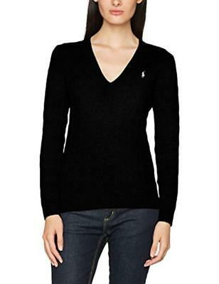 (TG. Large) Polo Ralph Lauren Kimberly LS Swt, Donna, Nero (Polo Black A00Pb), L