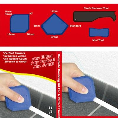 4Pcs Window Film Tint Tools Kit Silicone Scraper Squeegee Grout Caulk Applicator