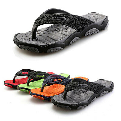 UK New Mens Holiday Summer Beach Comfort Casual Sandals Slippers Flip Flops Size