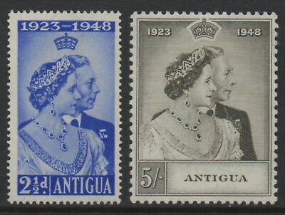 St. Kitts-Nevis - KG VI Silver Wedding - MNH Pair