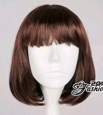 Brown Straight 40cm Short Anime Hair Cosplay Party Wig