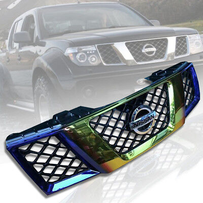 For Nissan Navara Frontier D40 2005 06 07 08 Front Titanium Gold Grill Grille