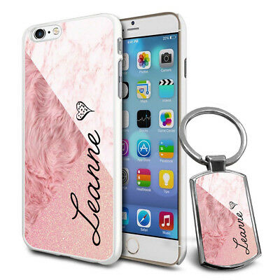 Personalised Marble Design Phone Case Cover & Keyring for Various Phones - 595