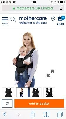 Mothercare 3 Position Baby Carrier Sling Black 13 08 Picclick Uk