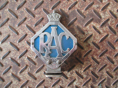 Vintage Racv 1950S Chrome Car Badge With Kings Crown