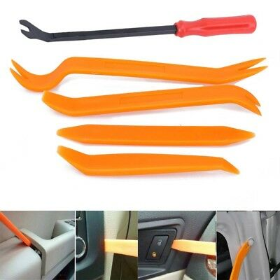 4x Car Door Panel Trim Clip Removal Plier & Upholstery Remover Pry Bar Tool Set