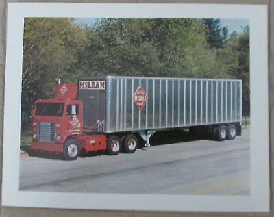 Mclean Trucking Company Vintage Truck Picture And On Back The Area Served