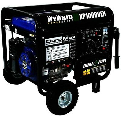 Duromax Portable Generator 10000-Watt Dual Fuel Powered Electric Start Wheeled