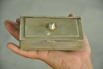 Old Brass Book Shape 3 Compartments Handcrafted Betel Nut Box
