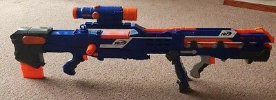 Nerf CS 6 Long Shot Sniper Rifle Dart Gun N Strike Elite Blue