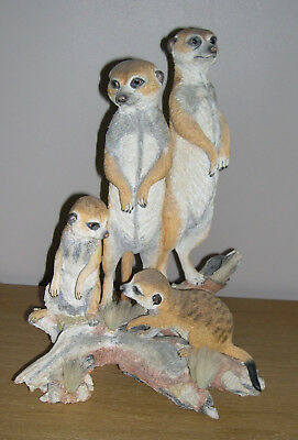 Large Country Artists Meerkat Family Sculpted by Keith Sherwin CA005493