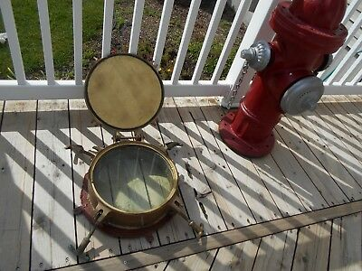Vintage Porthole from  1930's Coast Guard Cutter - Has Blast Cover &Thick Glass