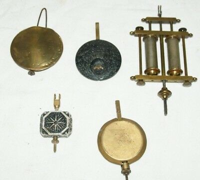 Collection Of Antique/Vintage Wall & Mantel Clock Pendulums