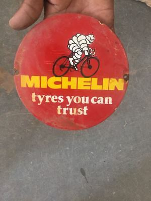"""Porcelain Michelin Sign SIZE 6"""" ROUND"""
