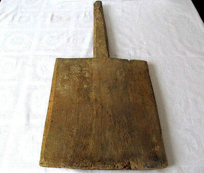 Old Antique Primitive Wooden Wood Bread Cutting Board Dough Plate