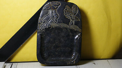 Antiques Chinese Old Jade stone hand-carved dragon Ink stone A96