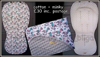 Custom made universal seat liner fit to Bugaboo Bee plus / 3 / 5