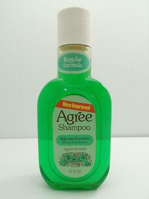 Agree Shampoo 12 Fl Oz Regular Formula NOS Johnson Wax Greasies Vintage