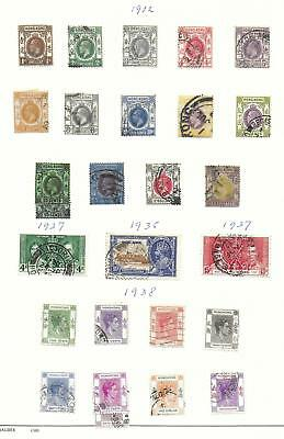 Hong Kong stamps 1912 Collection of 27 stamps HIGH VALUE!