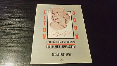 Elton John - Candle In The Wind - Sheet Music - FANTASTIC Condition