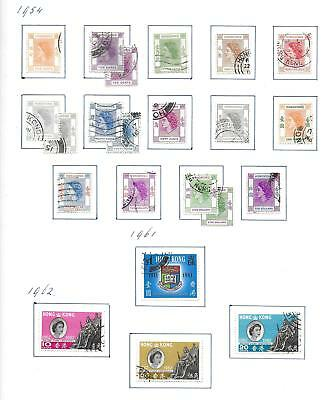 Hong Kong stamps 1954 collection of 22 stamps HIGH VALUE!