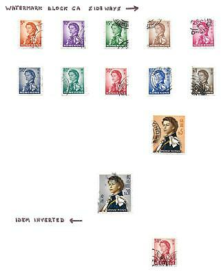 Hong Kong stamps 1962 Collection of 13 stamps HIGH VALUE!