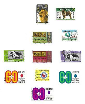 Hong Kong stamps Collection of 11 stamps HIGH VALUE!