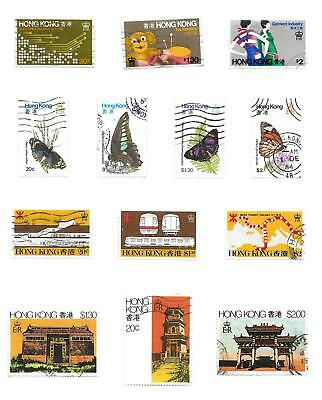 Hong Kong stamps Collection of 13 stamps HIGH VALUE!