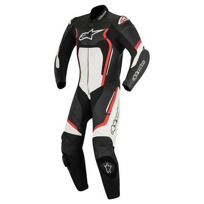 Alpinestars Motegi v2 1 Piece Motorcycle Race Suit Black Red & White EU54 XL
