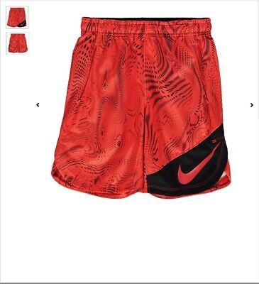 Nike Kids Clothes Sports Football Shorts Orange Brand New Age 5-6 years.